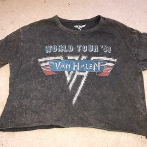 American Eagle Outfitters Tops - American Eagle Van Halen cropped tee